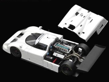 HPI 1/43 ジャガー XJR-9 プレーンカラー ホワイト
