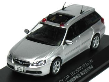【絶版品】レイズ 1/43 レガシィ ツーリングワゴン 3.0R 2006 警視庁 交通部交通機動隊 暴走族対策車