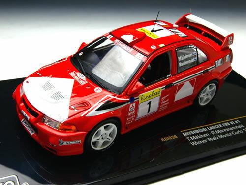 イクソ 1/43 三菱 ランサー エボリューション VI No.1 モンテカルロラリー優勝車 1999