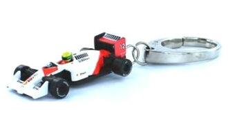No. 12 1988 イクソ 1/87 McLaren Honda MP4/4 Ayrton Senna key rings