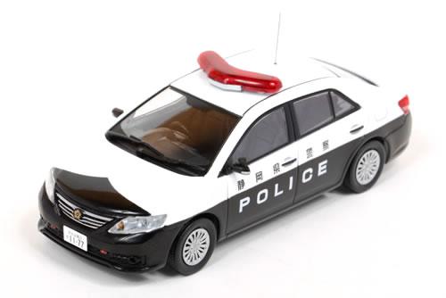 レイズ 1/43 トヨタ アリオン A20 (ZRT261) 2013 静岡県警察 所轄署警ら車両