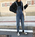 【CityGirl】デニムサロペット オーバーオール 大きいサイズ サルエルパンツ ボトムス サロペット デニム デニムパン…