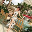 【CityGirl】ベアトップ レディース ロングワンピ ビーチワンピース 夏 リゾートワンピ 海 ビーチワンピース カジュ…