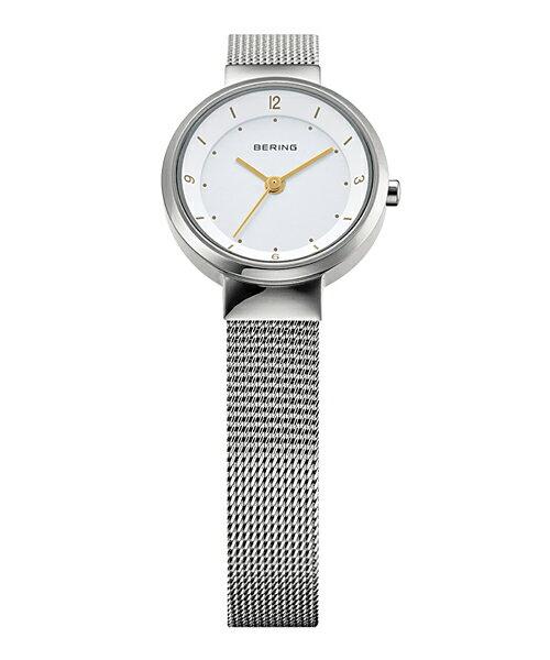 ベーリング Ladies Solar Mini 腕時計 14424-001 シルバー&ホワイト レディース 14424-001 父の日 プレゼント 父の日ギフト おしゃれ かわいい フォーマル BERING 時計 デザイン デザイナーズ 北欧デザイン モダン 時計 アナログ ブランド 誕生日 結婚祝い 出産祝い 引越し