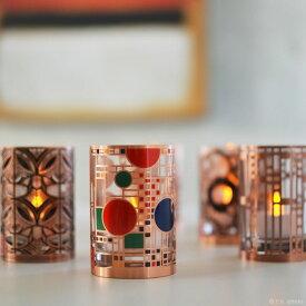 2,000円クーポン配布中 フランクロイドライト アートグラス LEDキャンドル LEDキャンドル ロウソク 蝋燭 キャンドル LEDライト 近代建築の巨匠フランクロイドライトのデザイン フランク・ロイド・ライト アートグラス LEDキャン