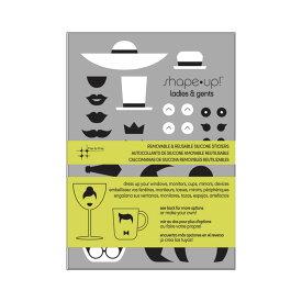 【メール便対応可】スリーバイスリーシアトル レディース&ジェントルマン シリコンステッカー 父の日 プレゼント 父の日ギフト おしゃれ かわいい 装飾 飾り ステッカー シール デザイン パズル デコレーション パーティー DIY アート スリーバイスリー Seattle ウォールア