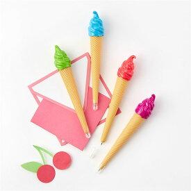 【メール便対応可】ソフトクリームボールペン ボールペン 勉強 アイスクリーム ソフトクリーム 敬老の日