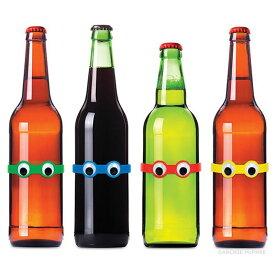 【メール便対応可】アクータメンツ 目玉ボトルマーカー 4色セット グラスマーカー ステムマーカー ハロウィン おしゃれ かわいい グラスマーカー ステムマーカー 印 グラス セット 付き ボトル サーバー パーティ パーティー ボトル カバー キープ ケ