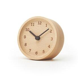 レムノス Lemnos MUKU desk clock ブナ LC12-05 BN 置き時計 LC12-05BN 母の日 おしゃれ かわいい 日本製 北欧スタイル MUKU desk clock ブナ LC12-05 BN 置き時計デスククロック テーブ