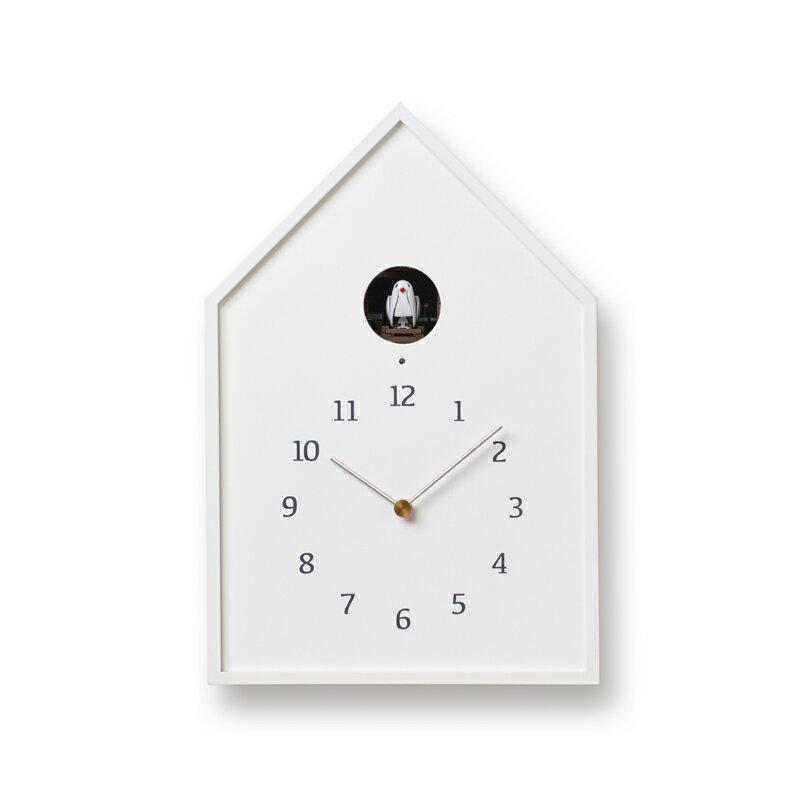 Lemnos レムノス Birdhouse Clock ホワイト NY16-12 WH カッコー時計 鳩時計 からくり時計 置き時計 掛け時計 掛け置き兼用 おしゃれ かわいい おしゃれ かわいい