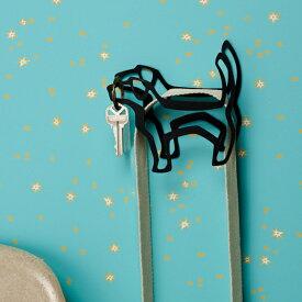 ブラックドッグフック ペット用リード掛け 壁掛け 壁 引っ掛け リード ハンガー 金具 犬 ハーネス リード 首輪 ペット ドッグ リード掛け フック ハロウィン
