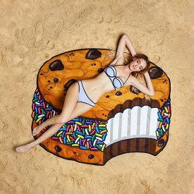 ジャイアントクッキーサンドアイスタオルケット お中元 おしゃれ かわいい クッキーサンドイッチ アイス クッキー ビッグマウストイズ ビッグマウストイ ビーチタオル プール ビーチブランケット タオルケット レジャーシート ゴザ ござ ピクニック ビッグサイズ 大きサイズ