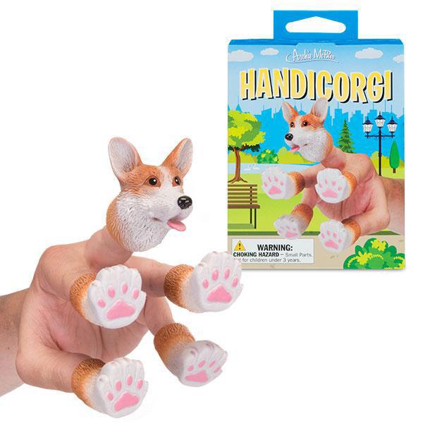 アクータメンツ フィンガーコーギー 指人形 クリスマス おしゃれ かわいい Accoutrements ドッグ 犬 いぬ 肉球 フィンガーパペット パペット キャット 人形 おもちゃ 人形 おもちゃ 男性 女性