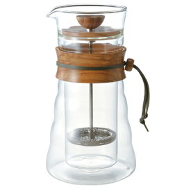 HARIO ハリオ ダブルグラスコーヒープレス コーヒーメーカー DGC-40-OV おしゃれ かわいい コーヒープレス プレス式 コーヒー ティー お茶 カフェ キッチン用品 キッチン雑貨