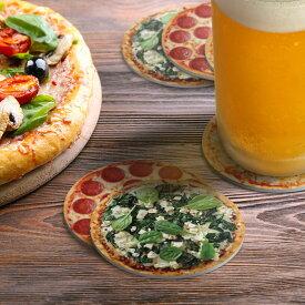 【メール便対応可】フレッド ピザコースター 6枚セット クリスマス おしゃれ かわいい FRED Hot And Fresh Pizza Coasters コースター ピザ ビール 紙 吸水 セット デリバリー キッチン おしゃ ギフト 誕生日プレゼント