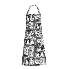 【10%OFFクーポン対象】ムーミン カクテルムーミン グレー エプロン FLS140051 お中元 おしゃれ かわいい Finlayson フィンレイソン キッチン用品 Moomin 北欧 フィンランド ムーミン谷 ムーミントロール 誕生日 結婚祝い 出産祝い 引越し祝い 改装祝い 送別 退職 内祝い 新