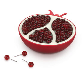 【50円クーポン対象】フレッド ザクロプッシュピン 押しピン 画鋲 バレンタイン おしゃれ かわいい FRED ざくろ ザクロ Pom Pins Pomegranate Pushpins プッシュピン プッシュピン 画びょう おもしろ オフィス