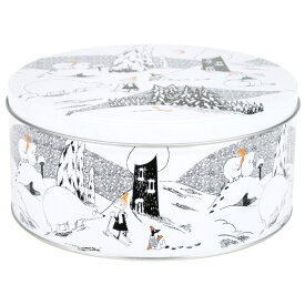 【10%OFFクーポン対象】ムーミン マルティネックス ラウンド缶 ムーミンホワイトウィンター L 61256303 父の日 プレゼント 父の日ギフト おしゃれ かわいい Moomin martinex 収納 容器 保存 北欧 フィンランド インテリア 雑貨 ムーミン谷 ムーミントロール 誕生日 結婚祝い