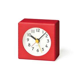 【10%OFFクーポン対象】レムノス Lemnos farbe 目覚まし時計 レッド PA18-02 RE 敬老の日