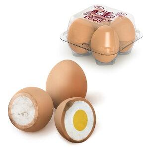 【最大3,000円クーポン配布中】FRED フレッド エッグイレーサー ゆで卵の消しゴム 4個セット ケース入り 卵 たまご ゆで卵 エッグ SCRIBBLED EGGS 消しゴム 文房具 けしごむ セット 文房具 おもしろ