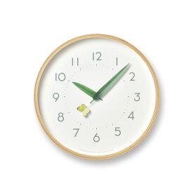 【10%OFFクーポン対象】レムノス Lemnos とまり木の時計 モンキチョウ SUR18-16 MONKI 掛け時計 敬老の日