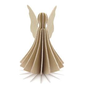 【メール便対応可】Lovi ロヴィ ANGEL エンジェル 9.5cm ナチュラルウッド AN95-NW グリーティングカード おしゃれ かわいい 天使 カード オブジェ メッセージカード ポップアップ ウッド 木製 立体 多目的 置物 北欧デザイン フィンランド 誕生日 結婚祝い 出産祝い 引越し