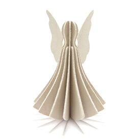 【メール便対応可】Lovi ロヴィ ANGEL エンジェル 9.5cm ホワイト AN95-WH グリーティングカード おしゃれ かわいい 天使 カード オブジェ メッセージカード ポップアップ ウッド 木製 立体 多目的 置物 北欧デザイン フィンランド 誕生日 結婚祝