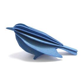 【エントリー3倍】【99円メール便対応可】Lovi ロヴィ BIRD バード 12.5cm ブルー BI125-BL グリーティングカード おしゃれ かわいい 青 鳥 カード オブジェ メッセージカード ポップアップ ウッド 木製 立体 多目的 置物 北欧デザイン フィンランド 誕生日 結婚祝い 出産祝