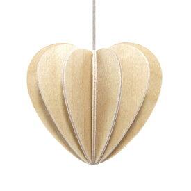 【メール便対応可】Lovi ロヴィ HEART ハート 4.5cm ナチュラルウッド HE45-NW グリーティングカード おしゃれ かわいい ブラウン ベージュ カード オブジェ メッセージカード ポップアップ ウッド 木製 立体 多目的 置物 北欧デザイン フィン