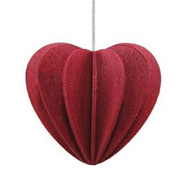 【メール便対応可】Lovi ロヴィ HEART ハート 6.8cm ダークレッド HE68-DR グリーティングカード おしゃれ かわいい 赤 カード オブジェ メッセージカード ポップアップ ウッド 木製 立体 多目的 置物 北欧デザイン フィンランド 誕生日 結婚祝い 出産祝い 引越し祝い 改装