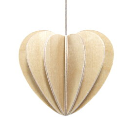 【メール便対応可】Lovi ロヴィ HEART ハート 6.8cm ナチュラルウッド HE68-NW グリーティングカード おしゃれ かわいい ブラウン ベージュ カード オブジェ メッセージカード ポップアップ ウッド 木製 立体 多目的 置物 北欧デザイン フィン
