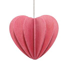 【メール便対応可】Lovi ロヴィ HEART ハート 6.8cm ピンク HE68-PK グリーティングカード おしゃれ かわいい カード オブジェ メッセージカード ポップアップ ウッド 木製 立体 多目的 置物 北欧デザイン フィンランド 誕生日 結婚祝い 出産祝い 引越し祝い 改装祝い 送別