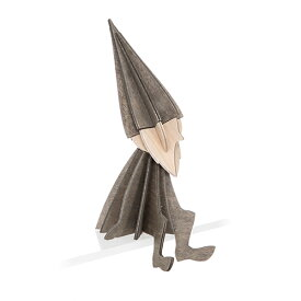 【メール便対応可】Lovi ロヴィ LOVI ELF ロヴィ エルフ 12cm グレイ LE120-GR グリーティングカード おしゃれ かわいい グレー 妖精 カード オブジェ メッセージカード ポップアップ ウッド 木製 立体 多目的 置物 北欧デザイン フィンランド 誕生日 結婚祝い 出産祝い 引越