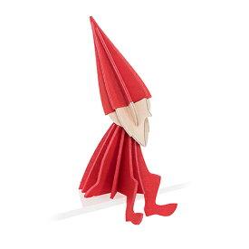 【メール便対応可】Lovi ロヴィ LOVI ELF ロヴィ エルフ 8cm ブライトレッド LE80-BR グリーティングカード おしゃれ かわいい 赤 妖精 カード オブジェ メッセージカード ポップアップ ウッド 木製 立体 多目的 置物 北欧デザイン フィンランド