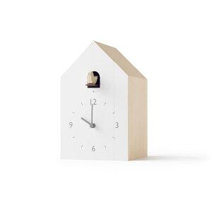 【3000円クーポン対象】レムノス Lemnos cuckoo-collection bookend ブックエンド NL19-01 カッコー時計 おしゃれ かわいい ホワイト 本立て 鳩時計 時計 置き時計 からくり時計 北欧 シンプル 大きい 見