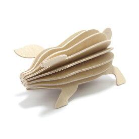【メール便対応可】Lovi ロヴィ PIG ピッグ 9.5cm ライトピンク PI80-NW グリーティングカード おしゃれ かわいい ブタ 豚 カード オブジェ メッセージカード ポップアップ ウッド 木製 立体 多目的 置物 北欧デザイン フィンランド 誕生日 結婚