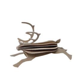 【100円クーポン対象】【メール便対応可】Lovi ロヴィ REINDEER レインディア 8cm グレー RE80-GY グリーティングカード おしゃれ かわいい 鹿 トナカイ カード オブジェ メッセージカード ポップアップ ウッド 木製 立体 多目的 置物 北欧デザイン フィンランド 誕生日 結婚