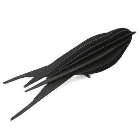【メール便対応可】Lovi ロヴィ SWALLOW スワロー 16cm ブラック SW160-BK グリーティングカード おしゃれ かわいい 黒 鳥 ツバメ バード カード オブジェ メッセージカード ポップアップ ウッド 木製 立体 多目的 置物 北欧デザイン フィンランド 誕生日 結婚祝い 出産祝い