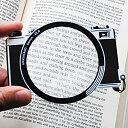 【メール便対応可】キッカーランド カメラ型 ブックマーク しおり ルーペ KIK-MG10 おしゃれ かわいい Kikkerland ブ…