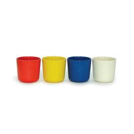 EKOBO エコボ ビオブ バンビーノ スモールカップセット4 レモン/トマト/ロイヤルブルー/ホワイト EB-69460