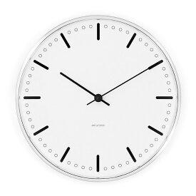2,000円クーポン対象 アルネ ヤコブセン 時計 シティホールクロック 290mm 掛け時計 CityHall 43641 北欧 掛時計 壁掛け 大きな 壁掛け時計 おしゃれ 壁かけ モダン デザイナー オシャレ ARNE JACOBSE