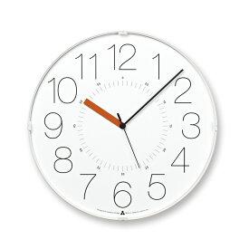 【10%OFFクーポン対象】レムノス AWA CLOCK CARA ホワイト オレンジ 掛け時計 AWA13-08WH-O ハロウィン