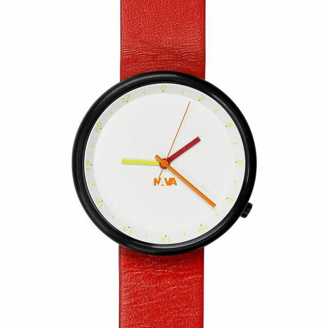 ナバデザイン Wherever Sunset O450 レッド 腕時計 ユニセックス NVA-02-0007 クリスマス おしゃれ かわいい フォーマル NAVA ナヴァデザイン nava design 時計 デザイン デザイナーズ アナログ イタリアン イタリア 時計 ブランド