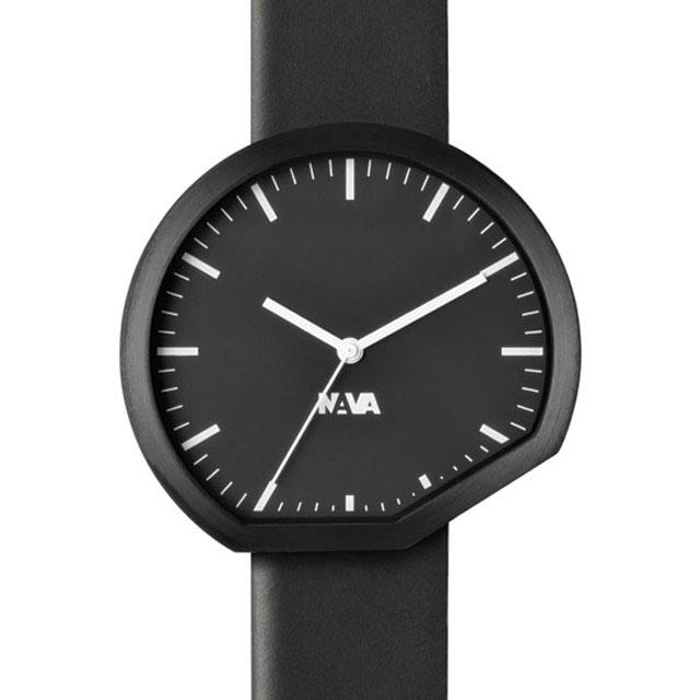 ナバデザイン Ora 42mm ブラック 腕時計 メンズ NVA-02-0015 クリスマス おしゃれ かわいい フォーマル NAVA ナヴァデザイン nava design 時計 デザイン デザイナーズ アナログ イタリアン イタリア 時計 ブランド