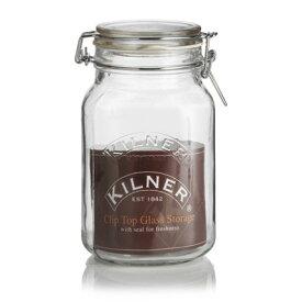 キルナー クリップトップジャー 1.5L KILNER ガラスジャー 38-2025-00 おしゃれ かわいい キルナージャー キルナーガラスジャー Square Clip Top Jar 保存用瓶 保存容器 保存ビン