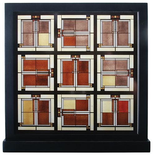 この商品が【10%OFF】になるクーポンあり!フランクロイドライト アートグラス スカイライト ステンドグラス ガラス工芸 オークパーク クリスマス おしゃれ かわいい ステンドグラス ガラス工芸 フランク・ロイド・ライト Frank Lloyd Wright 装飾 建築