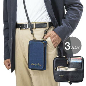 ロベルトリッチ 3WAY 藍染10ポケットウォレット Robert Ricci メンズ ウエストポーチ ショルダー 財布