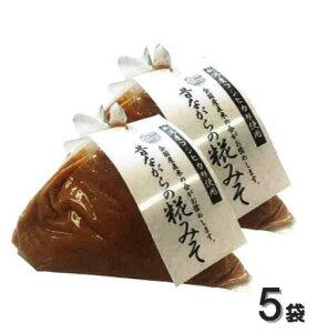 【新潟県産コシヒカリ使用】昔ながらの糀みそ 750g×5袋セット 中甘口タイプ 白味噌 魚沼 田中米穀