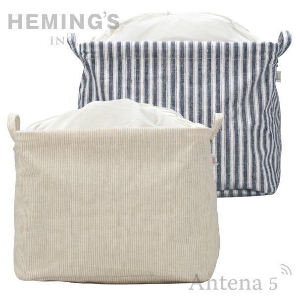 《全3色》HEMING'S Pilier Square Short PATTERN 収納ボックス 【ヘミングス ピリエ ナチュラル デザイン雑貨 リビング インテリア NATURAL STRIPE ストライプ 千鳥格子 パターン】