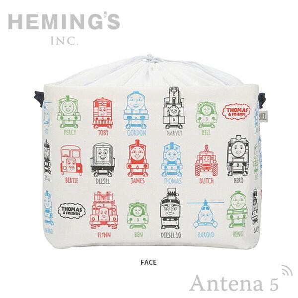 《全2色》HEMING'S Pilier Square Short トーマス&フレンズ FACE/THOMAS LINE 収納ボックス【THOMAS & FRIENDS ヘミングス ピリエ デザイン雑貨 リビング インテリア】